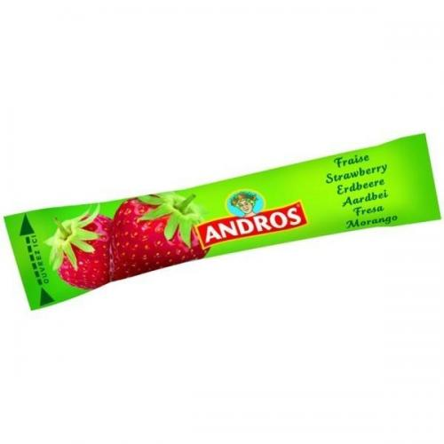 Stick confiture de fraises andros 20g